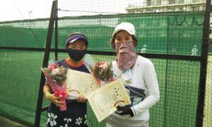 第1741回 桜台テニスクラブ 女子ダブルス準優勝:山口・中原ペア