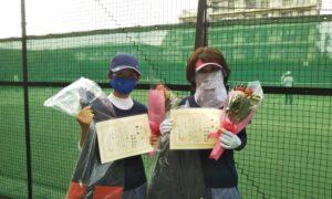 第1741回 桜台テニスクラブ 女子ダブルス優勝:仁科・成冨ペア