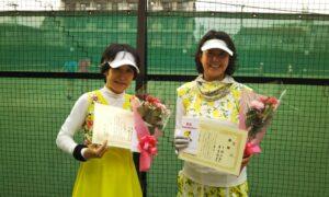 第1742回 桜台テニスクラブ 女子ダブルス優勝:東・下條ペア
