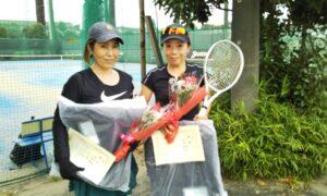 第1743回 サンライズテニススクール調布校 女子ダブルス優勝:中村・川口ペア