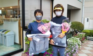 第1750回 緑ヶ丘テニスガーデン 女子ダブルス優勝:佐藤・内田ペア