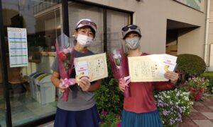 第1754回 緑ヶ丘テニスガーデン 女子ダブルス準優勝:菅原・山崎ペア
