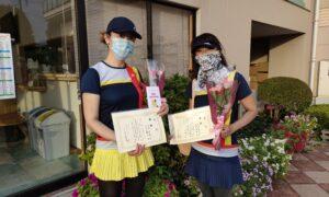 第1754回 緑ヶ丘テニスガーデン 女子ダブルス優勝:花村・大木ペア