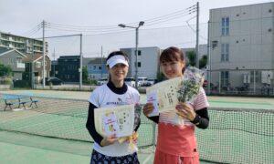 第1756回 南町田インターナショナルテニスカレッジ 女子ダブルス準優勝:真島・真島ペア