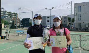 第1756回 南町田インターナショナルテニスカレッジ 女子ダブルス優勝:森田・林ペア