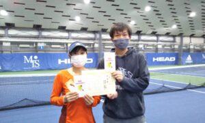 第260回 MTSテニスアリーナ三鷹 ナイター夫婦ミックス準優勝:西村夫妻