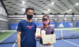 第260回 MTSテニスアリーナ三鷹 ナイター夫婦ミックス優勝:高橋夫妻
