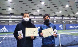 第259回 MTSテニスアリーナ三鷹 ナイター男子ダブルス優勝:迫田・藤原ペア