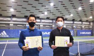 第259回 MTSテニスアリーナ三鷹 ナイター男子ダブルス準優勝:鳥屋・日笠ペア