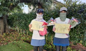第8回 善福寺公園テニスクラブ 女子ダブルス準優勝:村上・柳川ペア