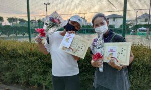 第9回 善福寺公園テニスクラブ 女子ダブルス準優勝:井上・吉本ペア