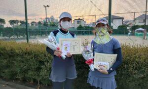 第9回 善福寺公園テニスクラブ 女子ダブルス優勝:兼子・稲葉ペア