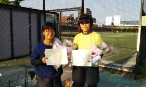 第1711回 桜台テニスクラブ 女子ダブルス準優勝:佐藤・内田ペア