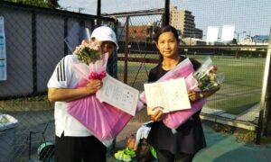 第1711回 桜台テニスクラブ 女子ダブルス優勝:井上・吉本ペア