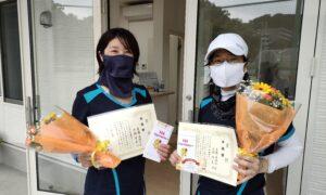 第1759回 百草テニスガーデン 女子ダブルス準優勝:斎藤・大橋ペア