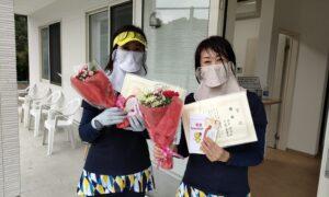 第1759回 百草テニスガーデン 女子ダブルス優勝:千葉・田中ペア