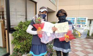 第1760回 緑ヶ丘テニスガーデン 女子ダブルス準優勝:瀧本・鈴木ペア