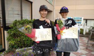 第1760回 緑ヶ丘テニスガーデン 女子ダブルス優勝:山崎・山本ペア