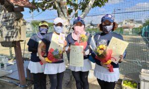 第1761回 関町ローンテニスクラブ 女子チーム戦優勝:『アーリーバード』