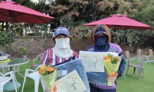 第1765回 百草テニスガーデン 女子ダブルス準優勝:伊藤・島村ペア