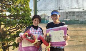 第1766回 関町ローンテニスクラブ 女子ダブルス準優勝:神津・新井ペア