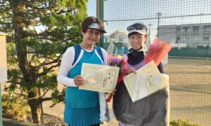 第1766回 関町ローンテニスクラブ 女子ダブルス優勝:吉田・大槻ペア