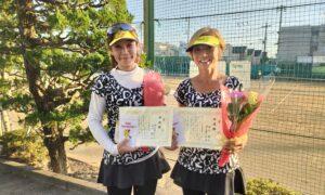 第1767回 関町ローンテニスクラブ 女子ダブルス準優勝:四之宮・石川ペア