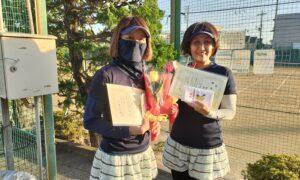 第1767回 関町ローンテニスクラブ 女子ダブルス優勝:名取・田中ペア