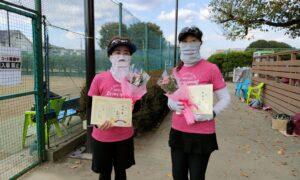 第11回 善福寺公園テニスクラブ 女子ダブルス準優勝:小出・斎藤ペア