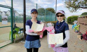 第11回 善福寺公園テニスクラブ 女子ダブルス優勝:長沢・村木ペア