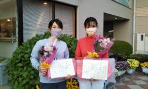 第1684回 緑ヶ丘テニスガーデン 女子ダブルス準優勝:増田・橎本ペア