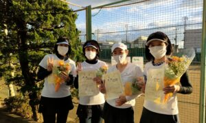 第1774回 関町ローンテニスクラブ 女子チーム戦優勝:『猪突猛進』