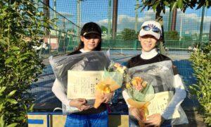 第1775回 サンライズテニススクール調布校 女子ダブルス優勝:山口・西岡ペア