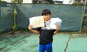 第49回 桜台テニスクラブ 小学生男子10歳以下準優勝:白尾 玲旺選手
