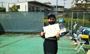 第49回 桜台テニスクラブ 小学生女子10歳以下準優勝:西村 優奈選手