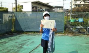 第49回 桜台テニスクラブ 小学生女子10歳以下優勝:大野 澄怜選手