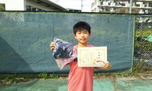 第49回 桜台テニスクラブ 小学生男子12歳以下準優勝:白尾 一晟選手