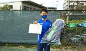 第49回 桜台テニスクラブ 小学生男子12歳以下優勝:本多 優一選手