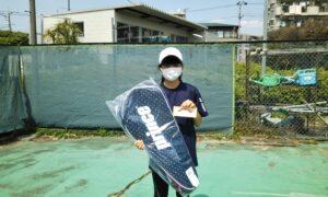 第49回 桜台テニスクラブ 小学生女子12歳以下優勝:中村 実尋選手