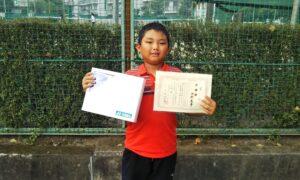 第50回 関町ローンテニスクラブ 小学生男子10歳以下準優勝:河村 恵吾選手