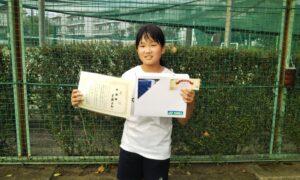第50回 関町ローンテニスクラブ 小学生女子10歳以下準優勝:齋藤 日和選手