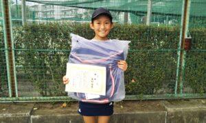 第50回 関町ローンテニスクラブ 小学生女子10歳以下優勝:西村 優奈選手
