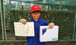 第50回 関町ローンテニスクラブ 小学生男子12歳以下準優勝:小林 健太選手