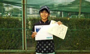 第50回 関町ローンテニスクラブ 小学生女子12歳以下準優勝:高瀬 葵選手
