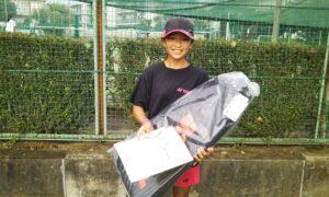 第50回 関町ローンテニスクラブ 小学生女子12歳以下優勝:高橋 優空選手