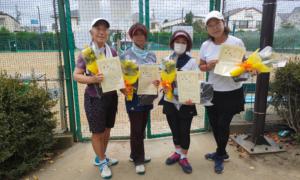 第10回 善福寺公園テニスクラブ 女子チーム戦優勝:『一喜一友』