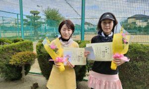 第1763回 新座ローンテニスクラブ 女子ダブルス準優勝:橋爪・橋間ペア