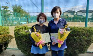 第1764回 新座ローンテニスクラブ 女子ダブルス準優勝:横内・春山ペア