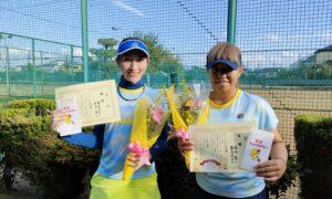 第1764回 新座ローンテニスクラブ 女子ダブルス優勝:奥寺・澁谷ペア