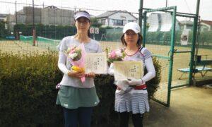第4回 善福寺公園テニスクラブ 女子ダブルス準優勝:長沢・渡部ペア